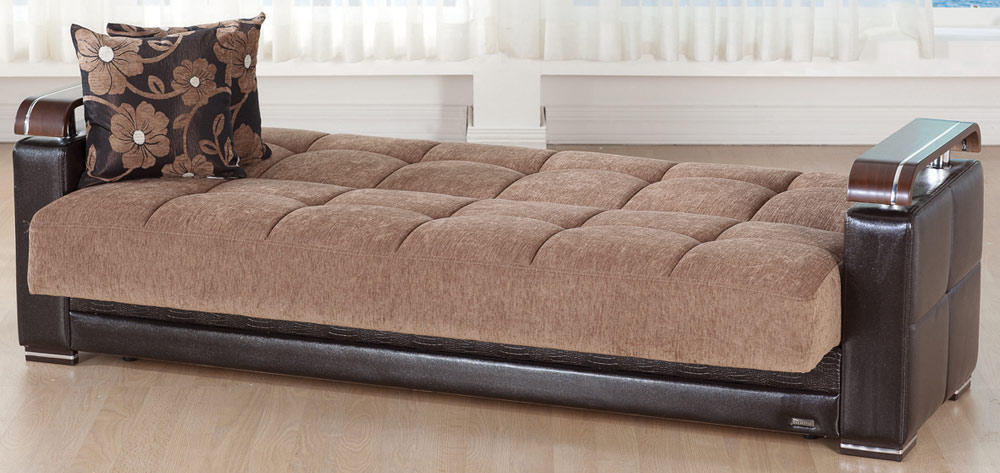 Istikbal ekol sleeper sofa yuky brown ekol s s1132 for Couch converts to bunk bed price