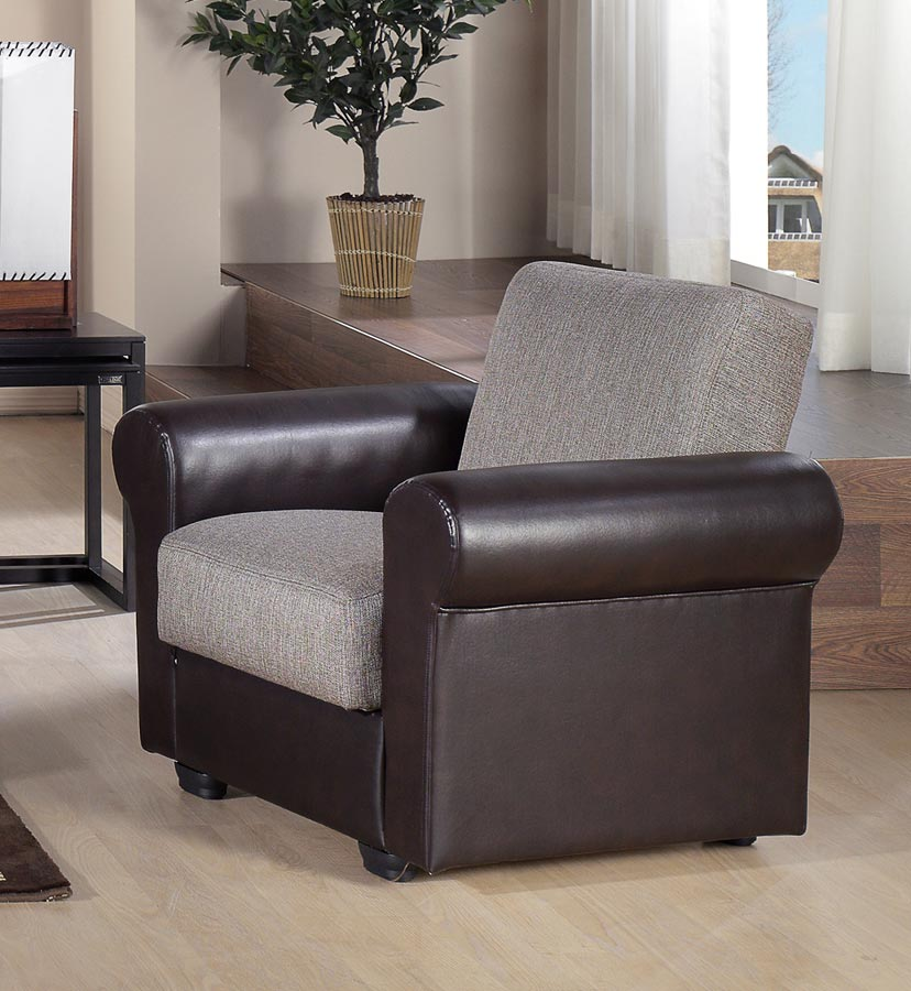 Istikbal Enea Arm Chair - Redeyef Brown