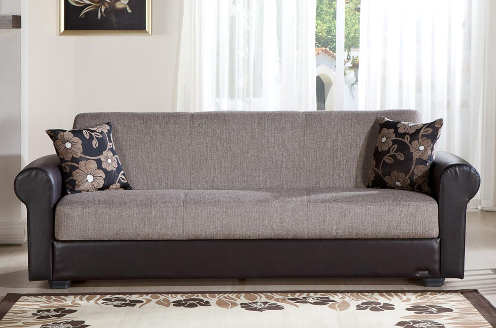 Istikbal Enea Sleeper Sofa Redeyef Brown Enea S S1087 At