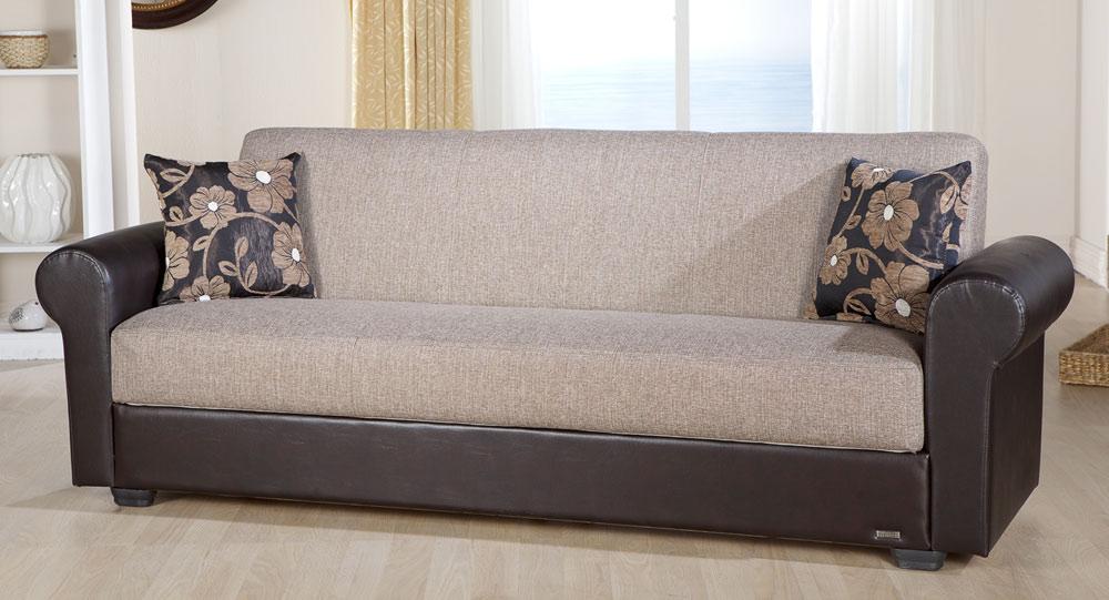 Istikbal Enea Sleeper Sofa - Redeyef Brown