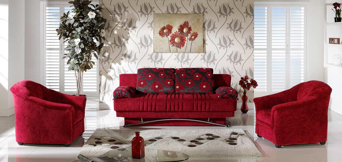 Istikbal Fantasy Sleeper Sofa   Yuky Red