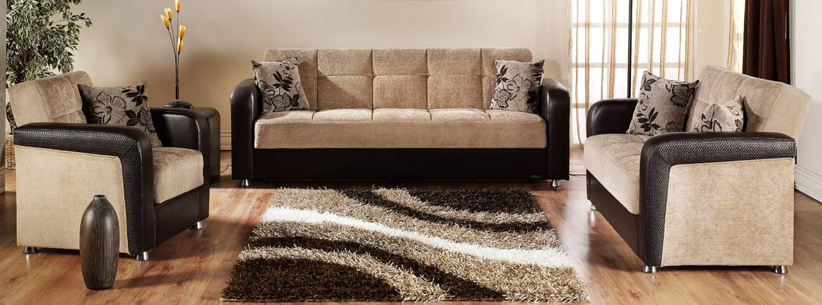 Beau Istikbal Vision Sofa Collection   Benja Light Brown