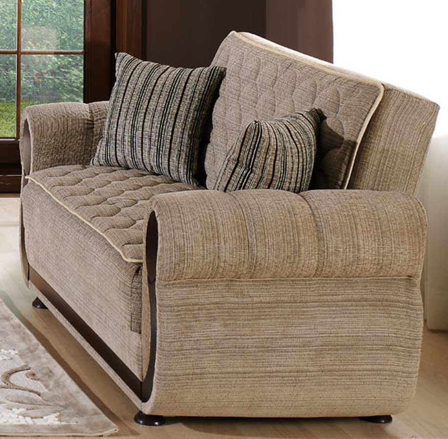 Istikbal Argos Sleeper Love Seat - Zilkade Light Brown