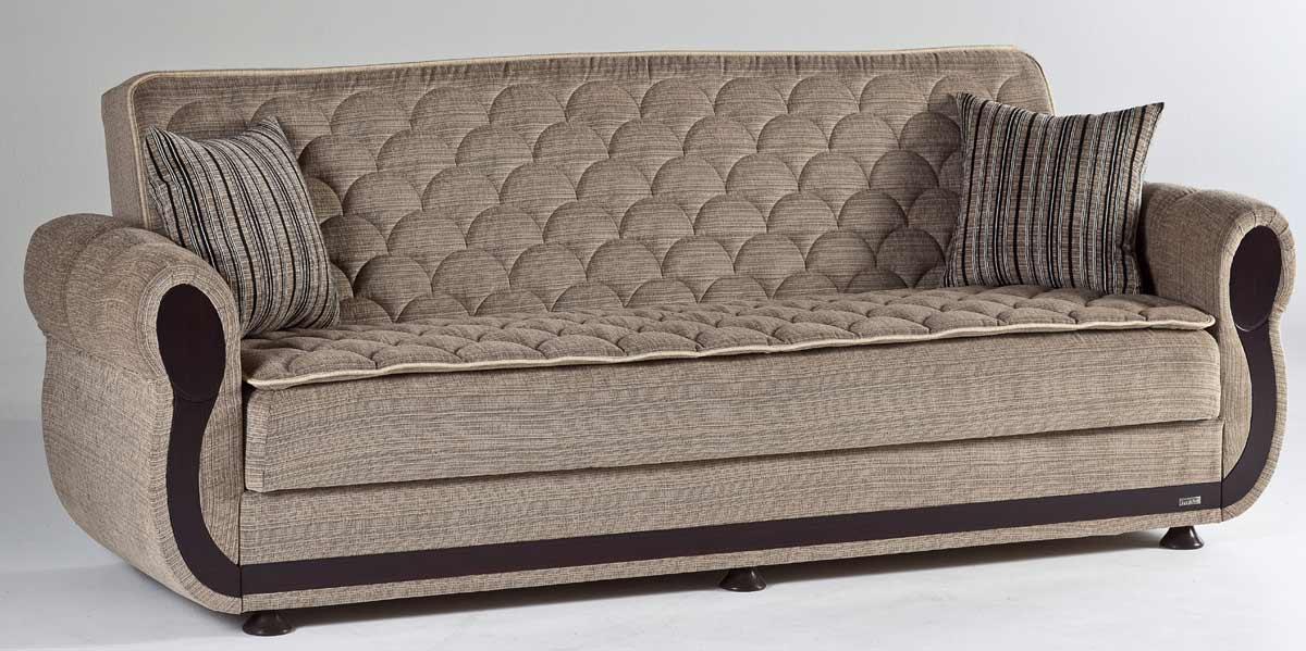 Istikbal Argos Sleeper Sofa Zilkade Light Brown