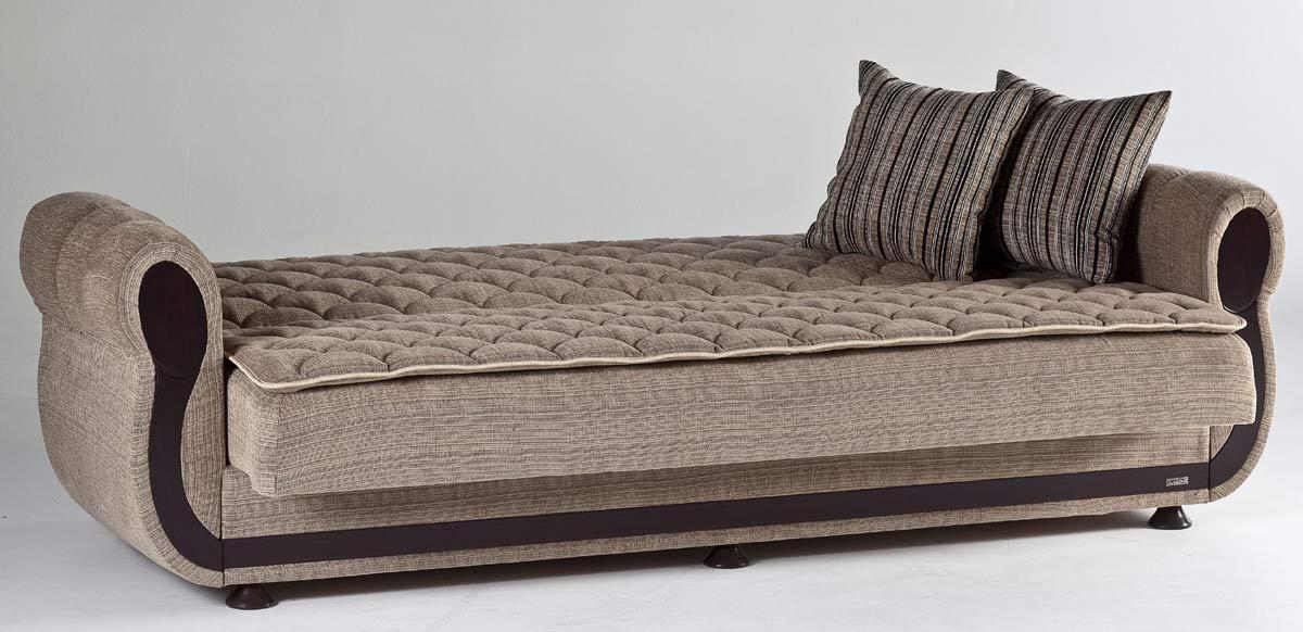 Istikbal Argos Sleeper Sofa - Zilkade Light Brown