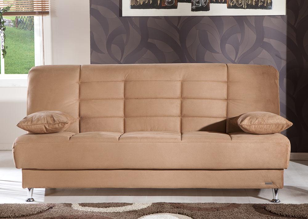 Istikbal Vegas Sleeper Sofa Rainbow Brown Vegas S N0136