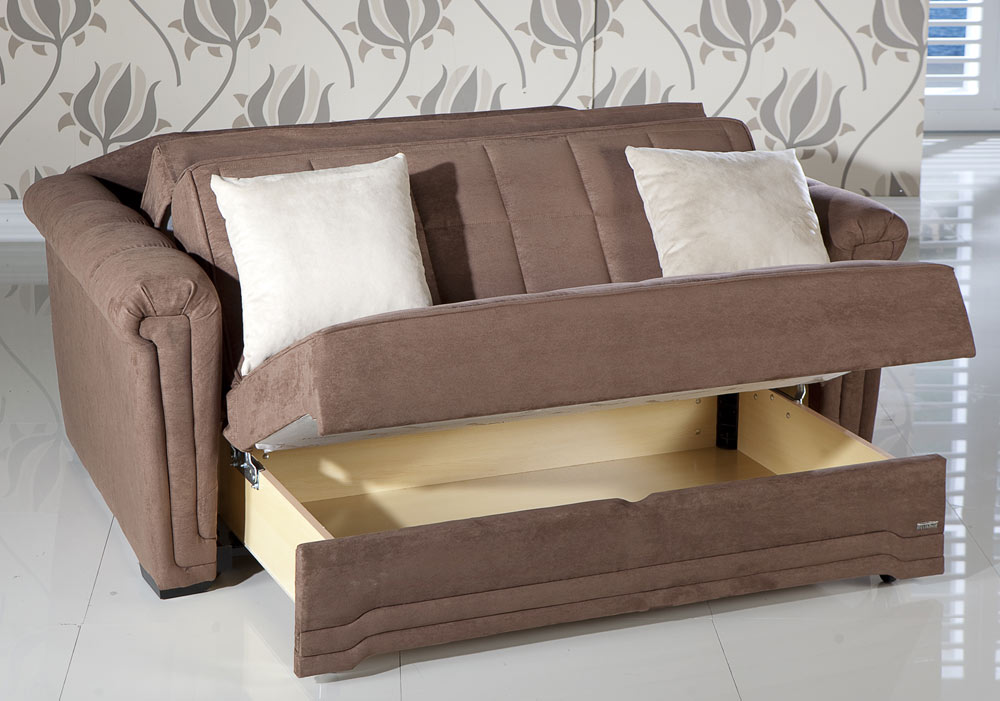 Istikbal Victoria Sleeper Love Seat - Obsession Truffle