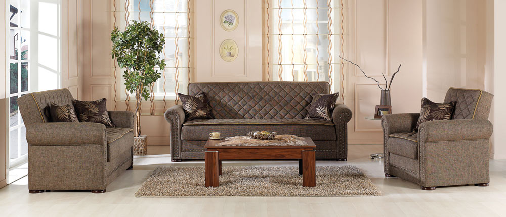 Istikbal western living room set terapy light brown western set