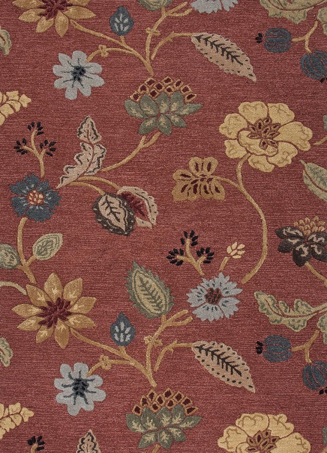 Jaipur Blue Garden Party BL05 Navajo Red Area Rug