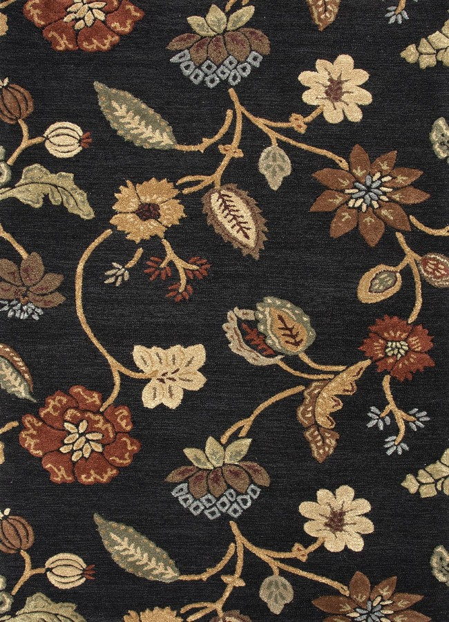 Jaipur Blue Garden Party BL11 Ebony Area Rug