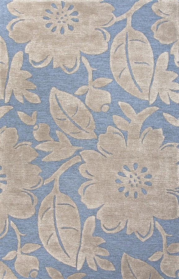 Jaipur Blue Bouquet BL117 Aegean Blue Area Rug