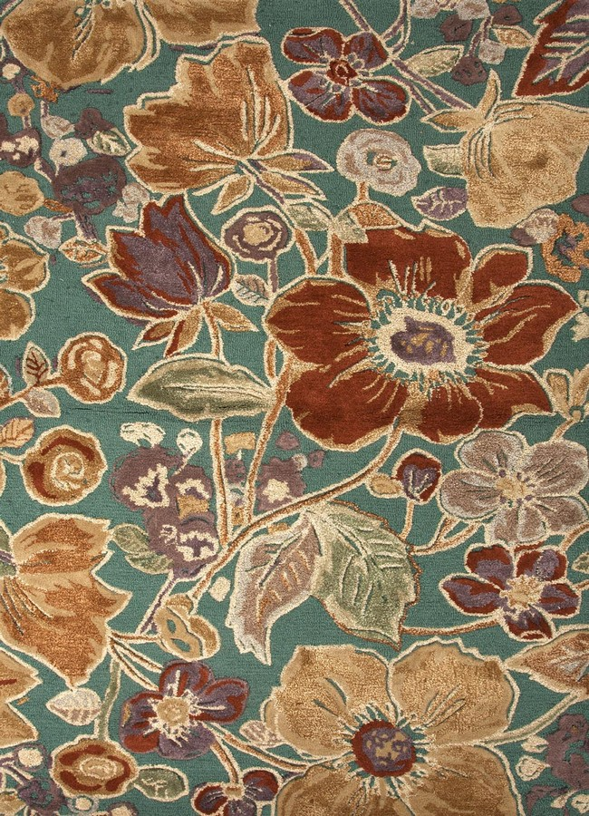 Jaipur Blue Floribunda BL72 Deep Sea Area Rug