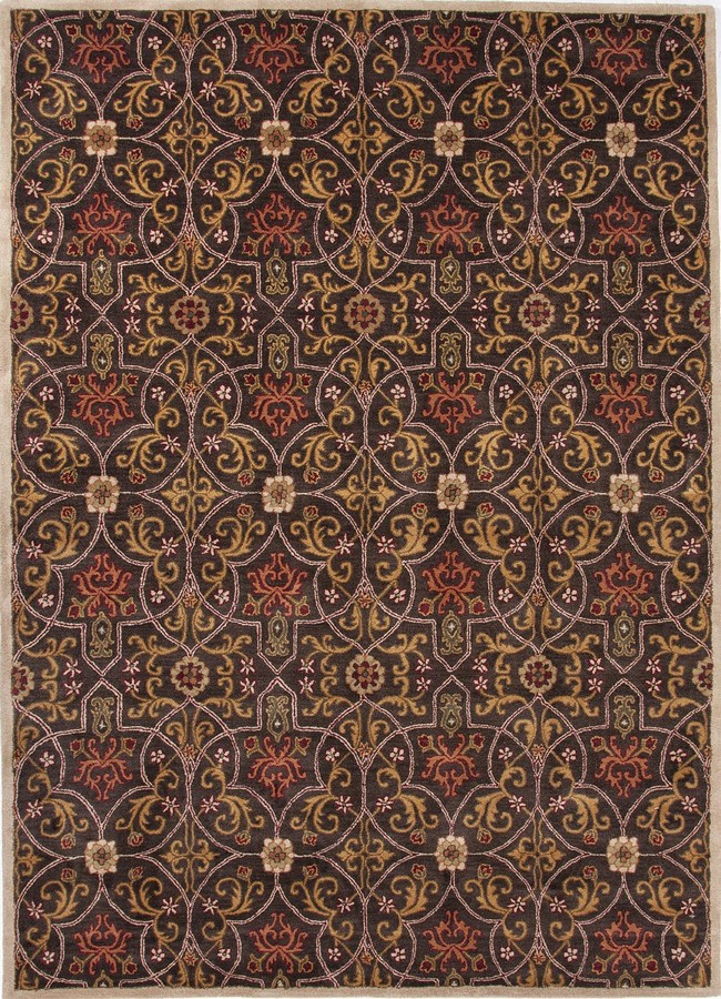 Jaipur Poeme Calais PM62 Black Coffee Area Rug
