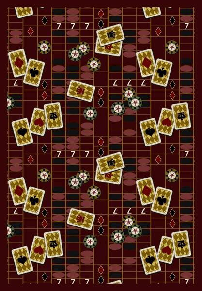 Joy Carpet Feeling Lucky - Burgundy