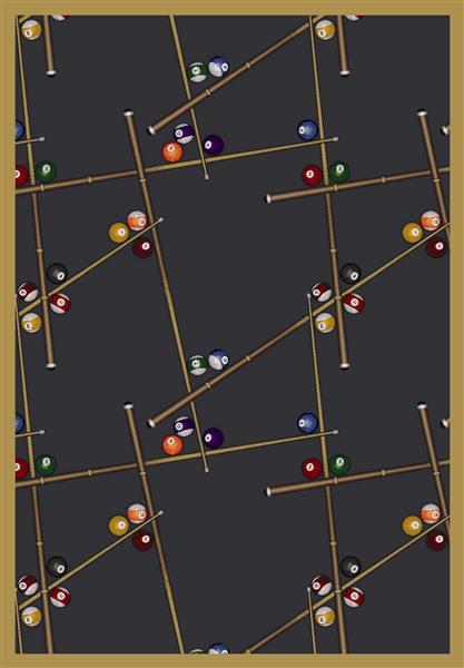 Joy Carpet Snookered - Fed Blue 1510-2