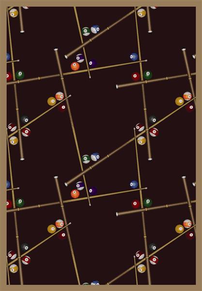 Joy Carpet Snookered - Burgundy 1510-3