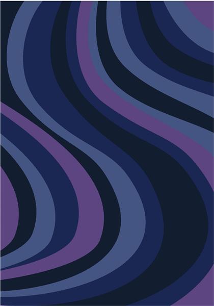 Joy Carpet On the Curve - Blue