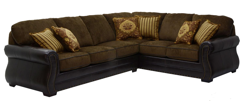 Jackson Furniture Austin Sectional Sofa Set Walnut JF SET Walnut p