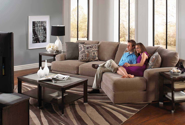 Jackson Malibu Piano Wedge Sofa Set Jf 3239 Set 4 Taupe At  ~ Sectional Sofa With Wedge