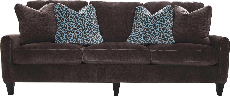 Jackson Mulholland Sofa - Chocolate