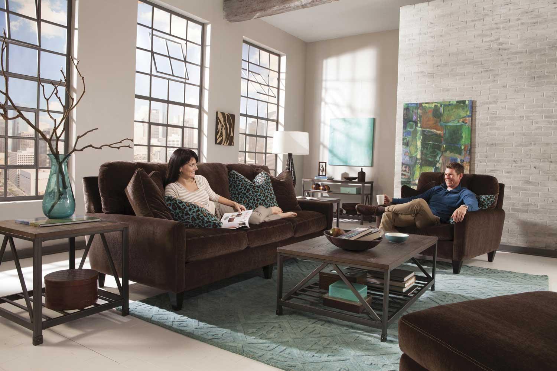 Jackson Mulholland Sofa Set - Chocolate