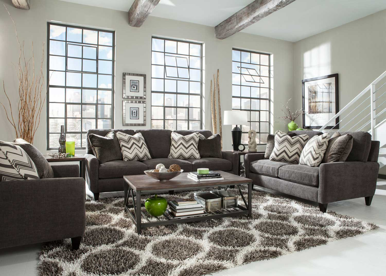 Jackson Mulholland Sofa Set - Mocha