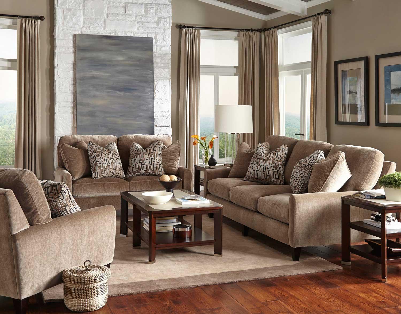 Jackson Mulholland Sofa Set - Taupe