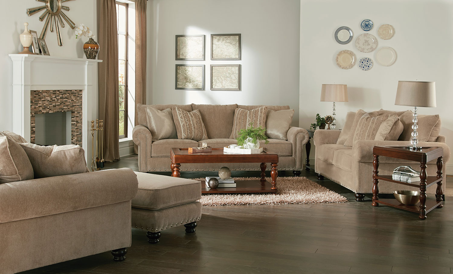 Jackson Avery Sofa Set - Putty