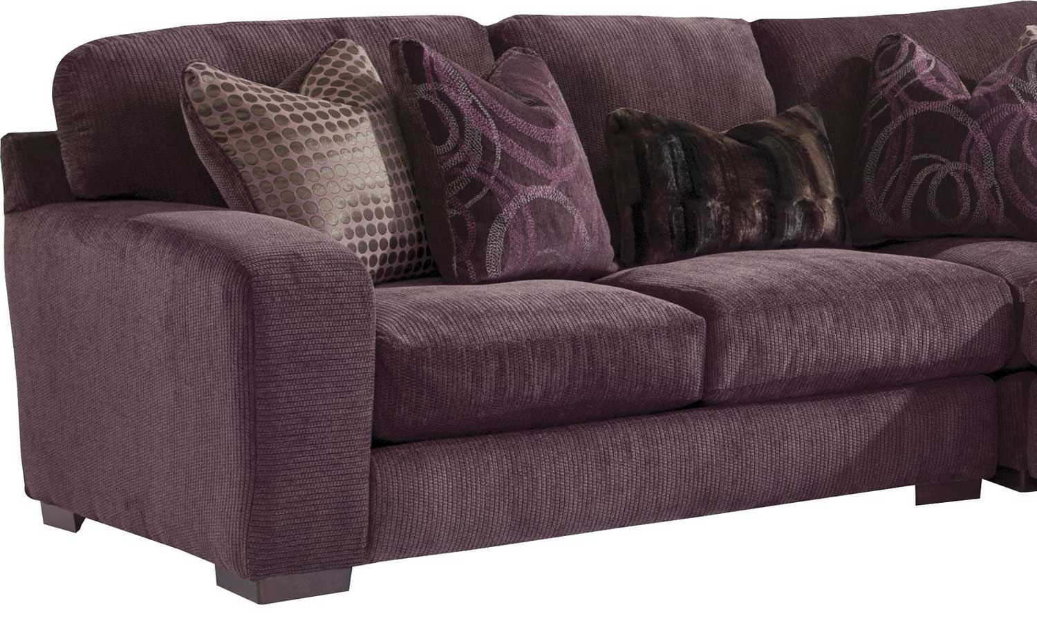 Jackson Serena Sectional Sofa Set Plum Jf 3276 Sect Set