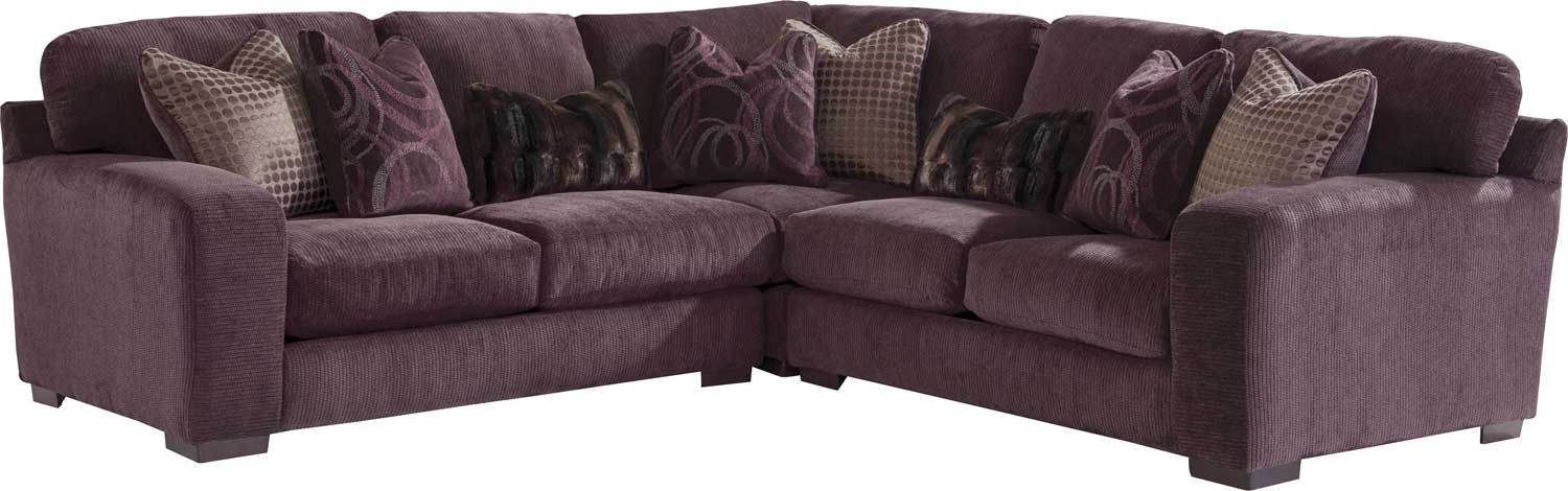 Merveilleux Jackson Serena Sectional Sofa Set   Plum
