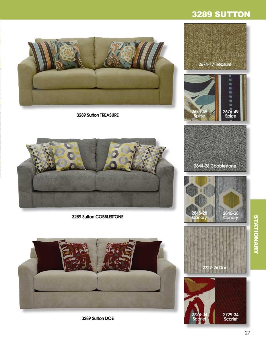 Bon Jackson Sutton Sofa Set   Cobblestone