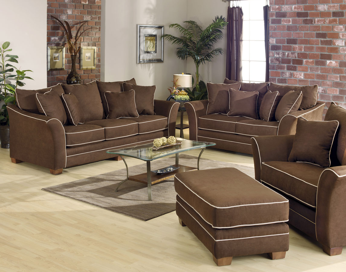 Cheap Jackson Bentley Sofa Set – Chocolate