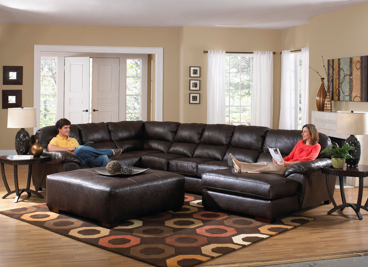Jackson Lawson Sectional Sofa Set B - Godiva