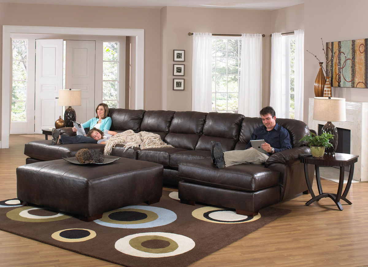 Jackson Lawson Sectional Sofa Set A Godiva Jf 4243 76 75