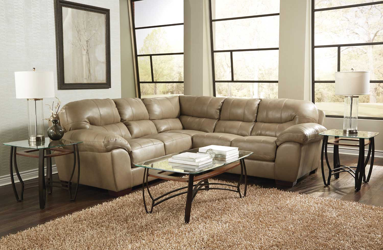 Jackson Lawson Sectional Sofa Set A - Putty