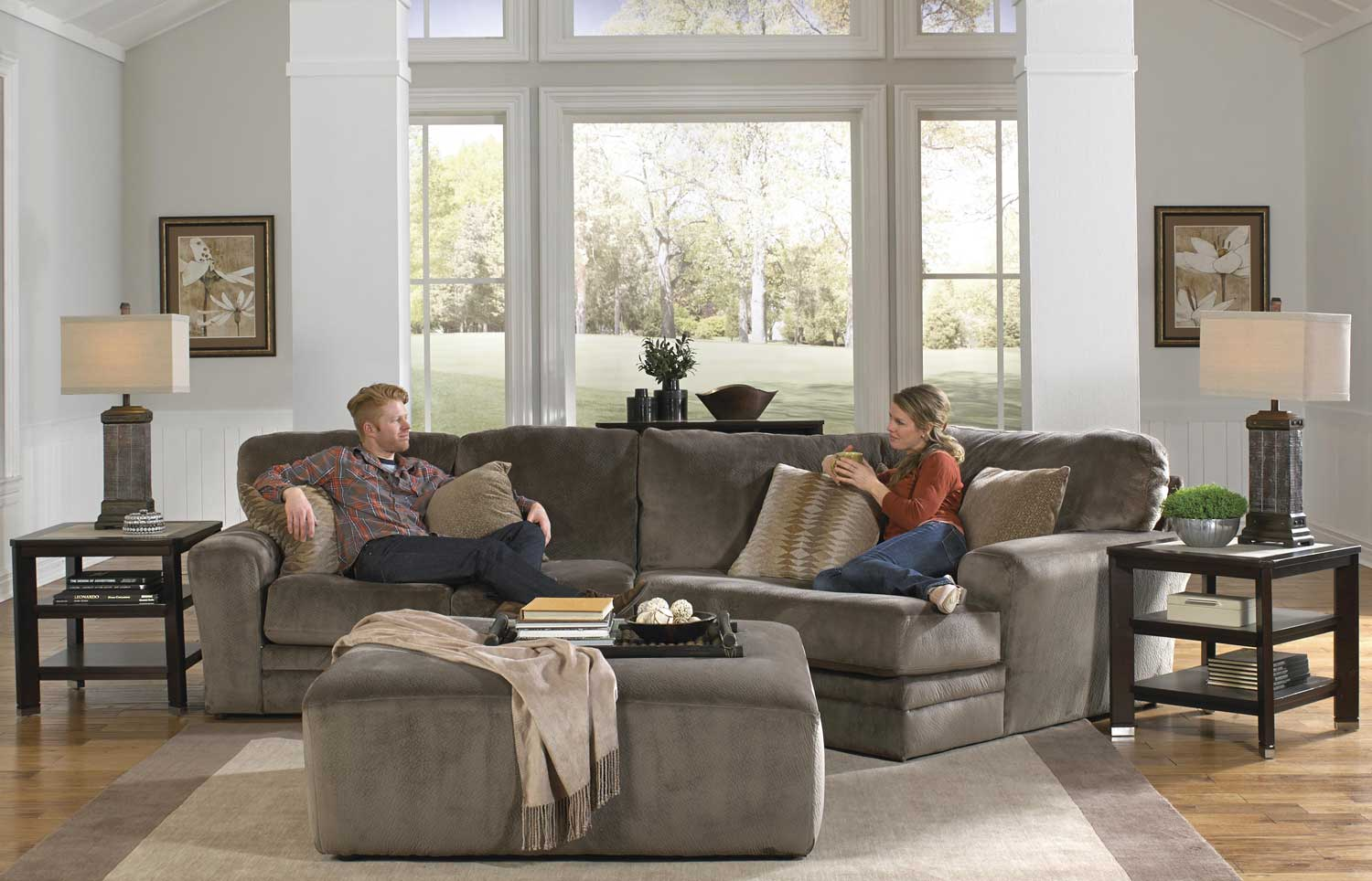 Jackson Everest Sectional Sofa Set B - Seal
