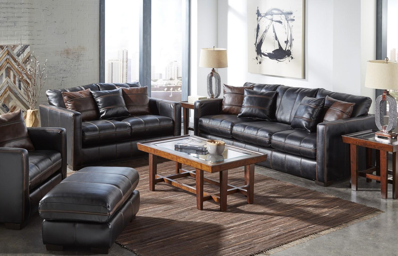Jackson Tucker Sofa Set - Black