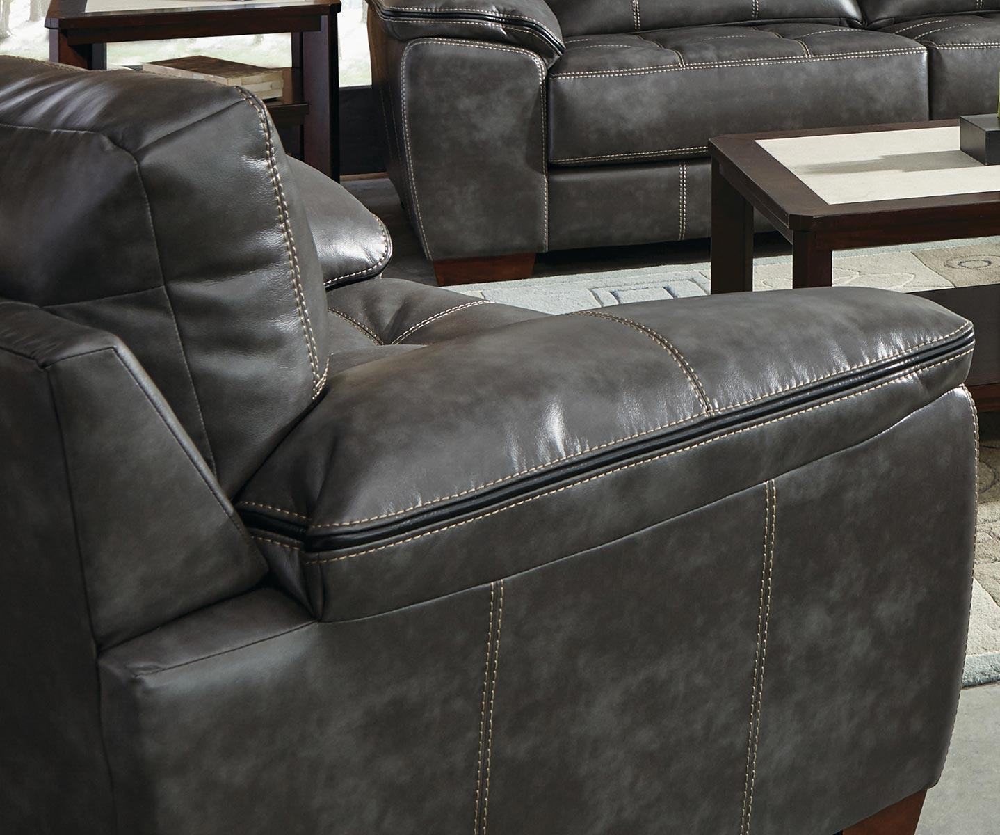 Jackson Hudson Chair and Half - Steel