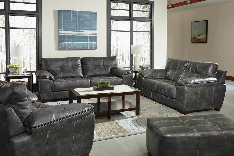 Jackson Hudson Sofa Set - Steel