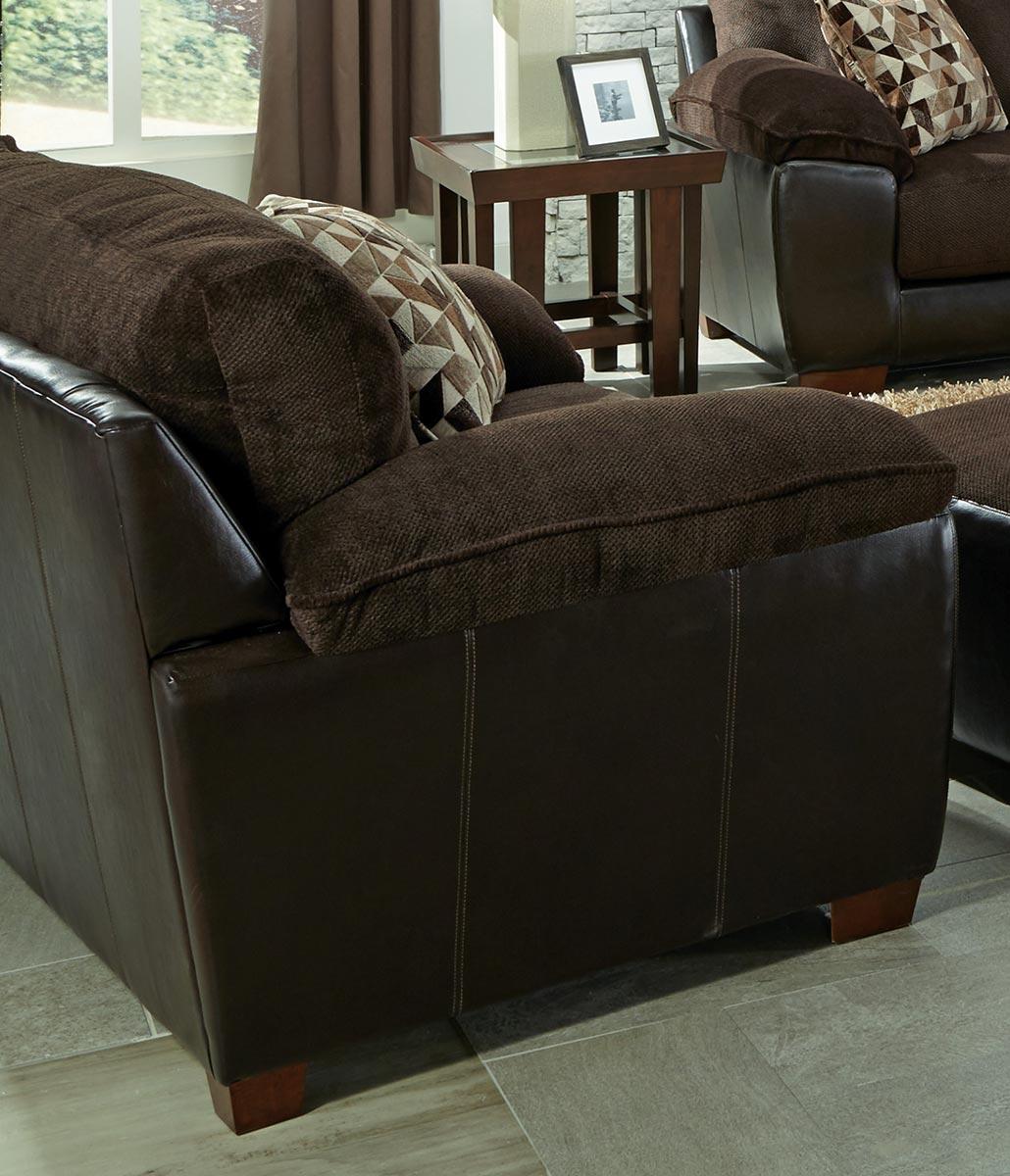 Jackson Pinson Chair and Half - Chocolate