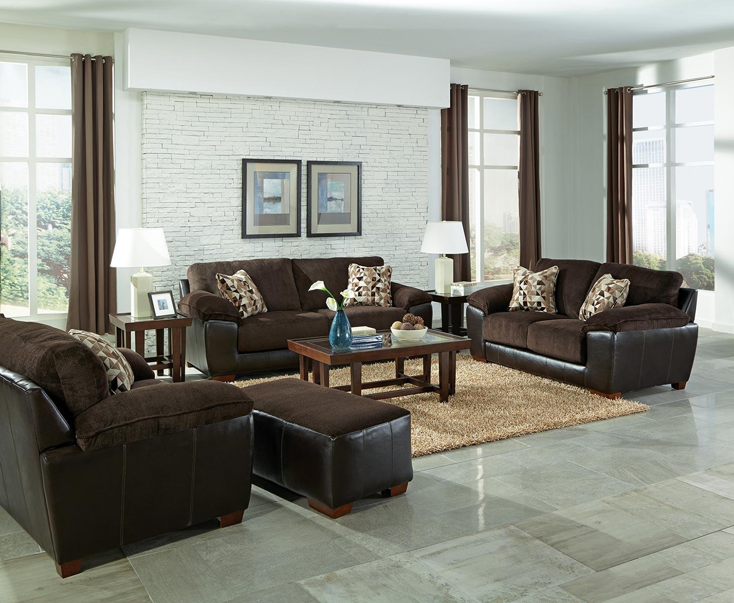 Jackson Pinson Sofa Set - Chocolate