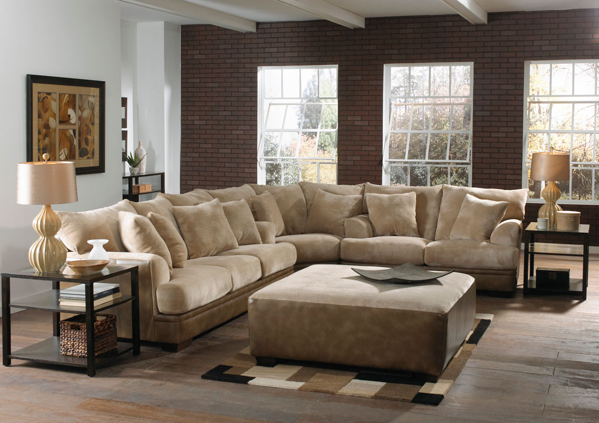 Jackson Barkley Sectional Sofa Set   Toast