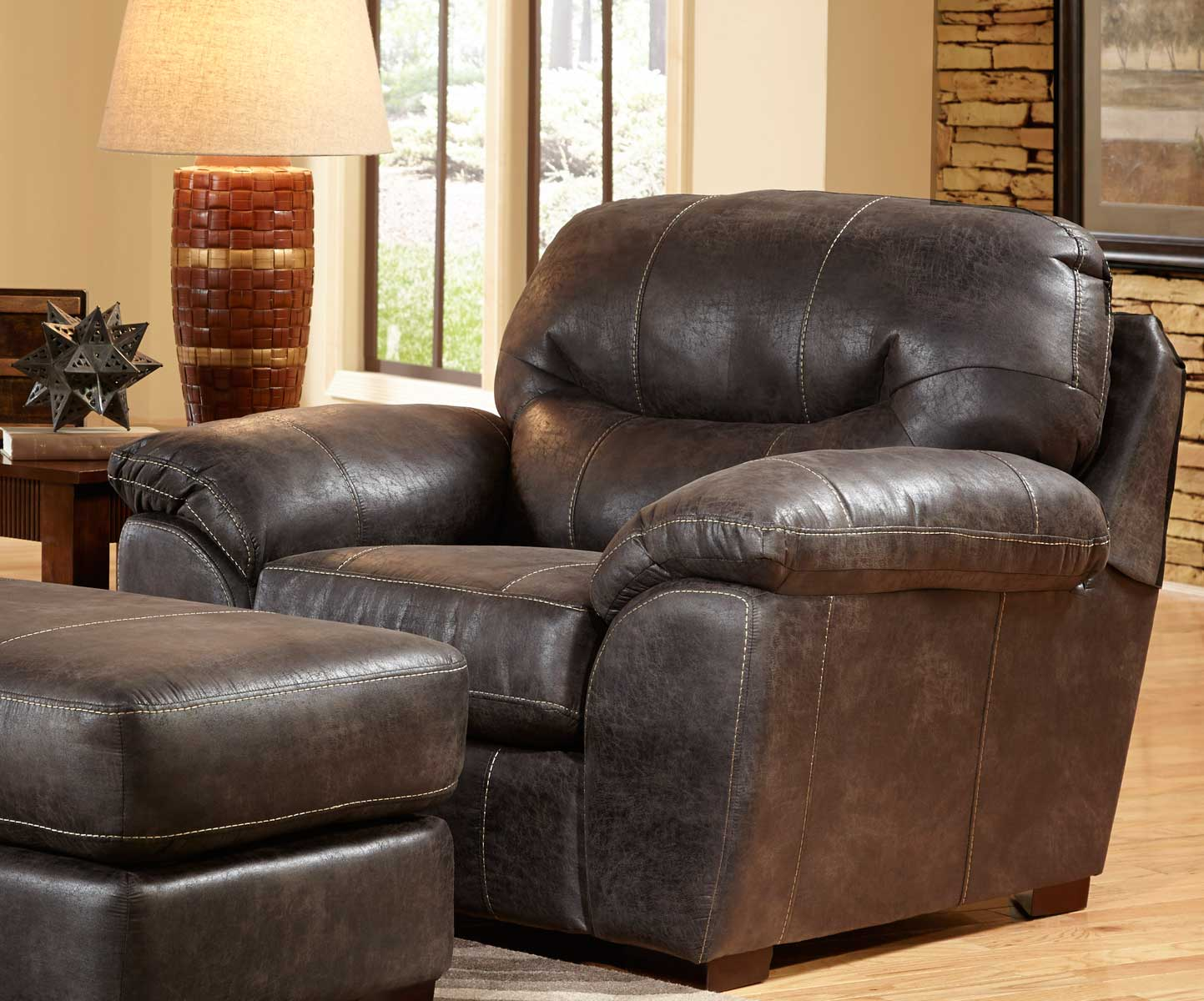 Jackson Grant Bonded Leather Chair Steel Jf 4453 01