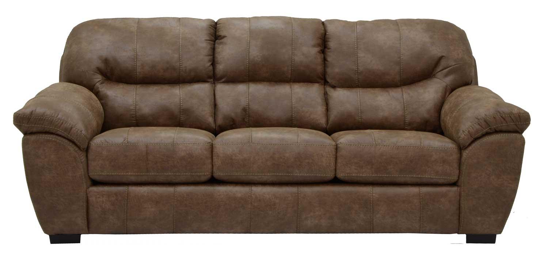 Jackson Grant Bonded Leather Queen Sleeper Sofa - Silt