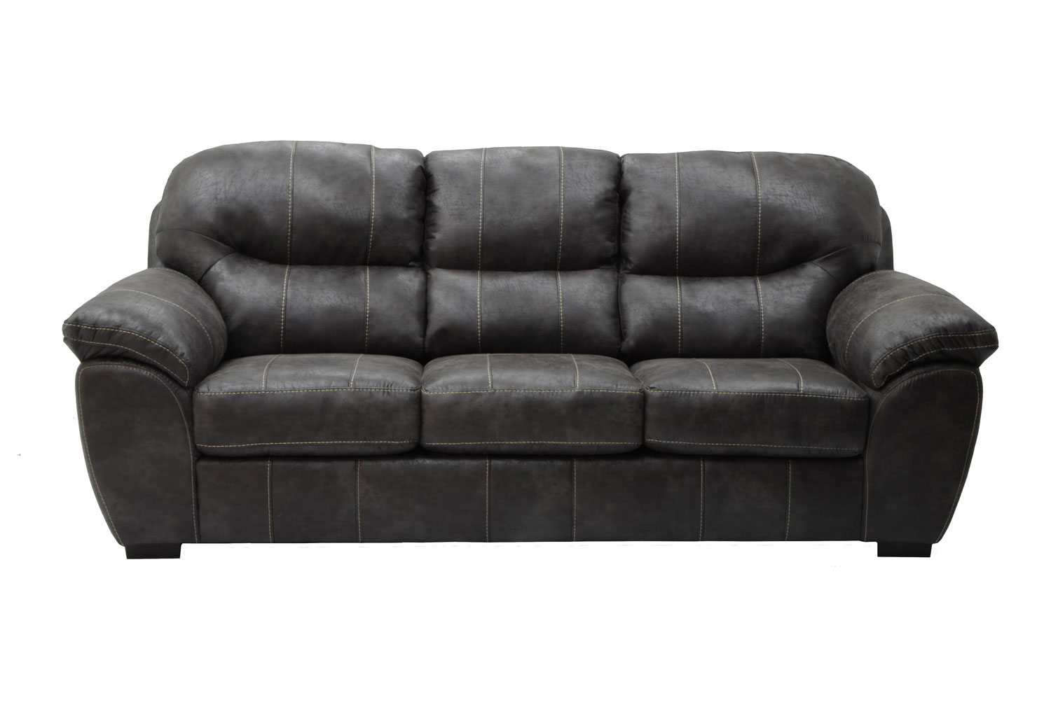 Jackson Grant Bonded Leather Queen Sleeper Sofa   Steel