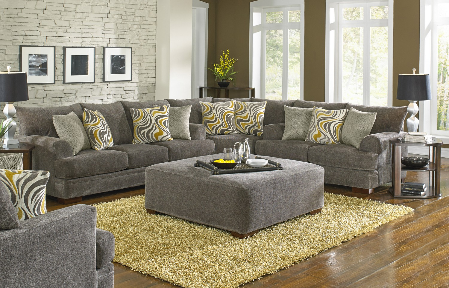 Jackson Crompton Sofa Sectional Sofa Set Pewter Jf 4462
