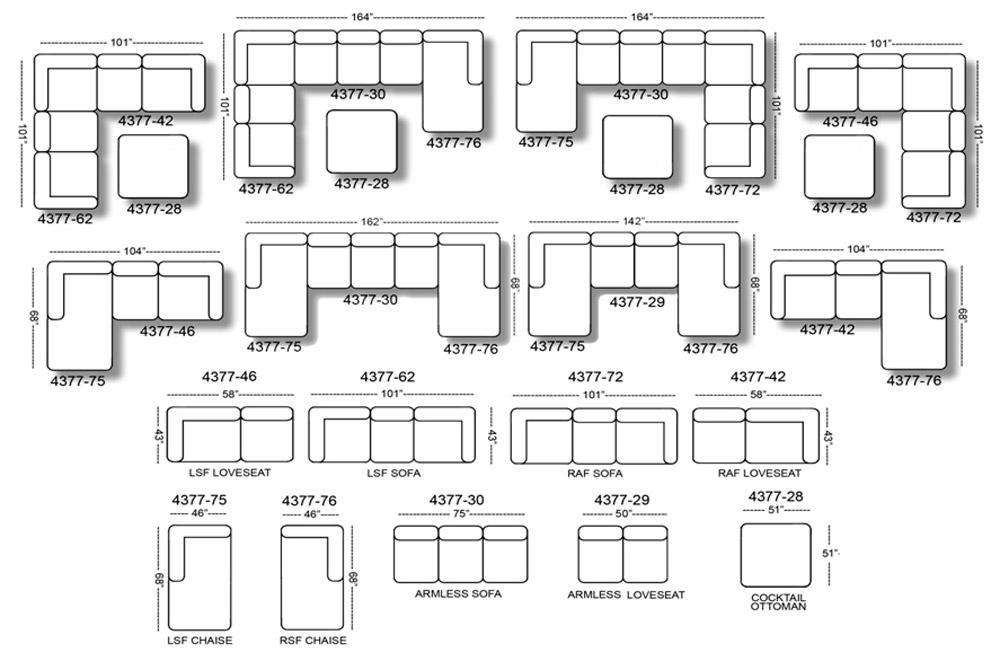 Jackson Everest Customizable Sectional Sofa Set A ...