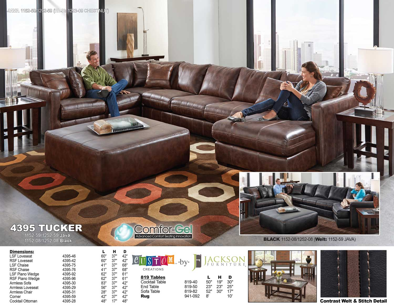Jackson Tucker Sectional Sofa Set A   Java