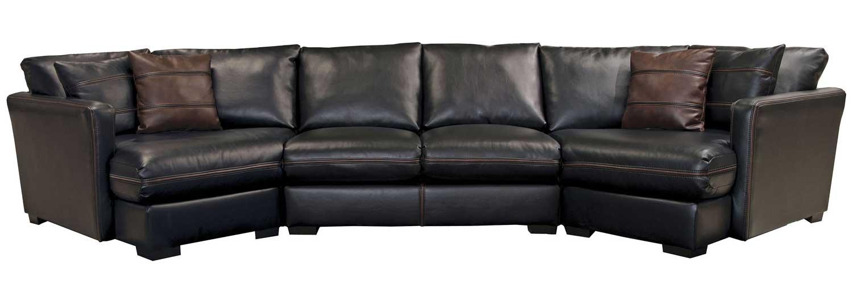 Jackson Tucker Sectional Sofa Set A Black JF 4395 SECT