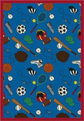 Joy Carpet Multi-Sport Rug - Blue